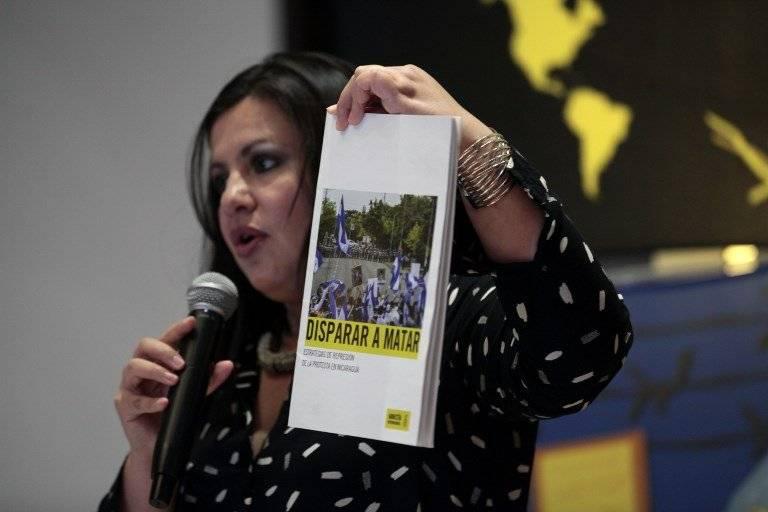 Erika Guevara-Rosas presenta informe sobre Nicaragua