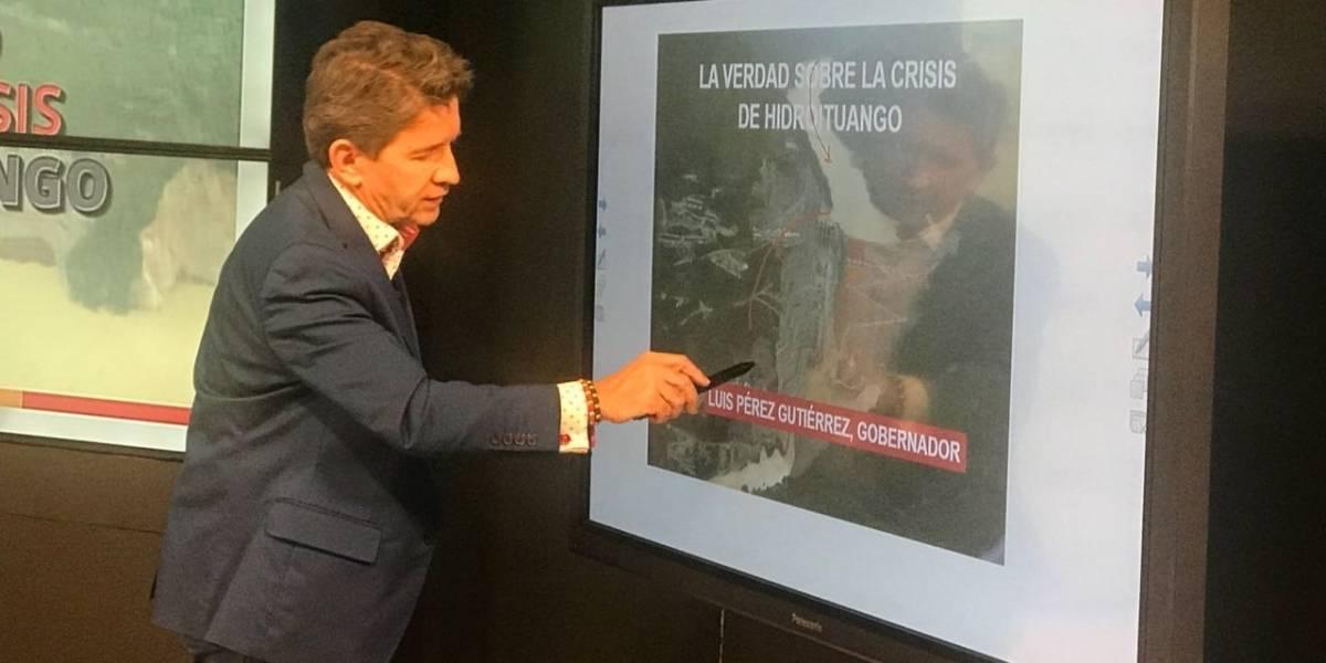 """Luis Pérez: """"yo tengo que saber la verdad exacta sobre lo que pasa en Hidroituango"""""""