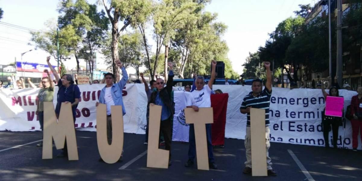 'El Estado no ha cumplido', protestan damnificados del Multifamiliar de Tlalpan
