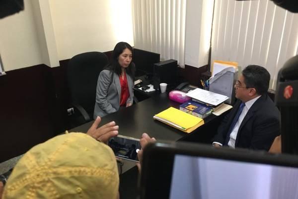 PDH Jordán Rodas visita a jueza Erika Aifán