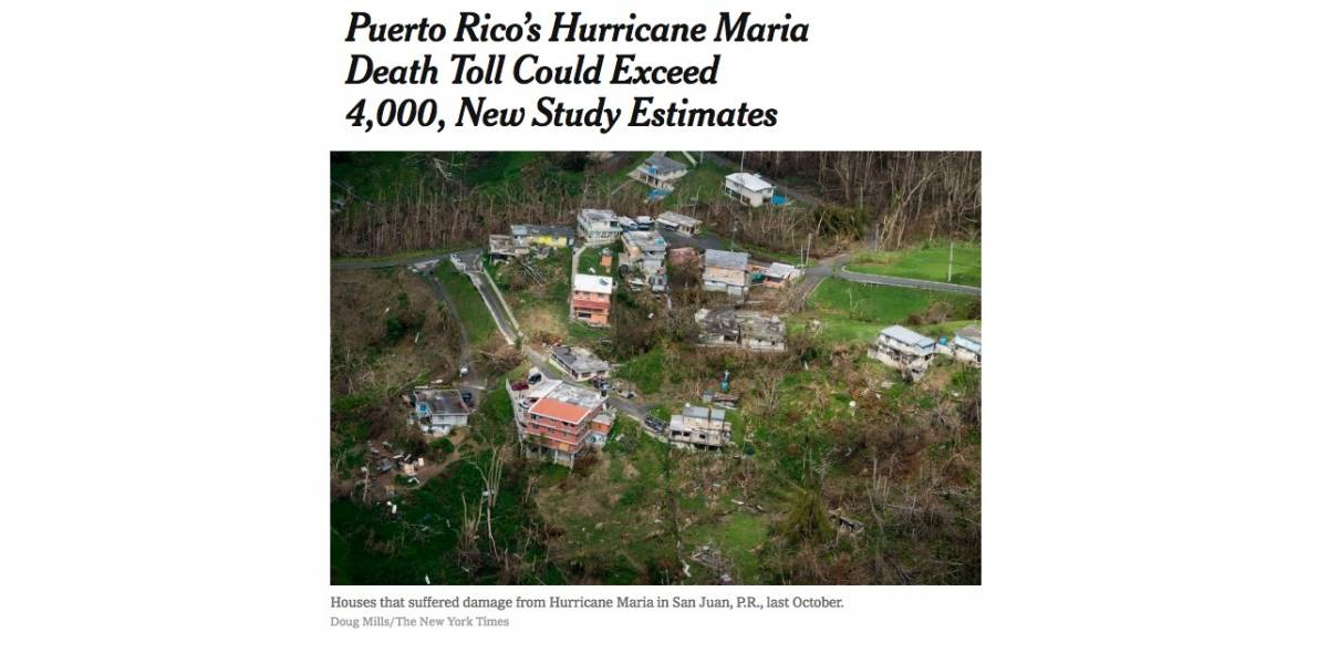 Así reporta el mundo estudio sobre muertes tras el huracán María en Puerto Rico