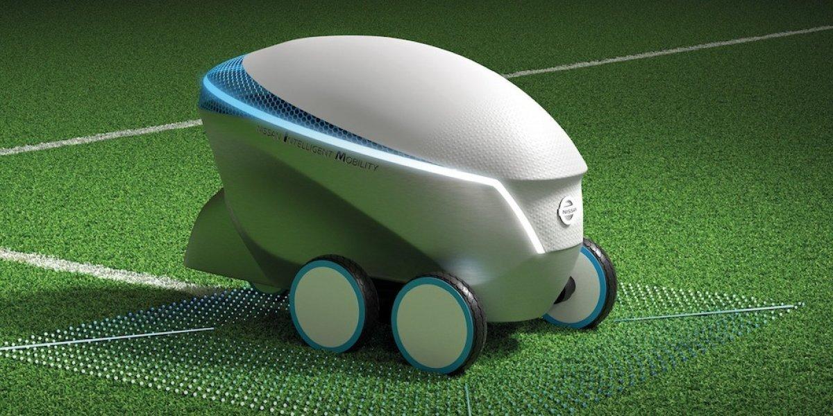 Presentan robot autónomo que puede crear campos de fútbol en 20 minutos
