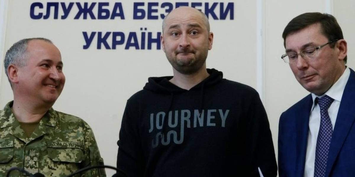 """Quem é o jornalista """"assassinado"""" que apareceu vivo - e está no centro da disputa entre Rússia e Ucrânia"""