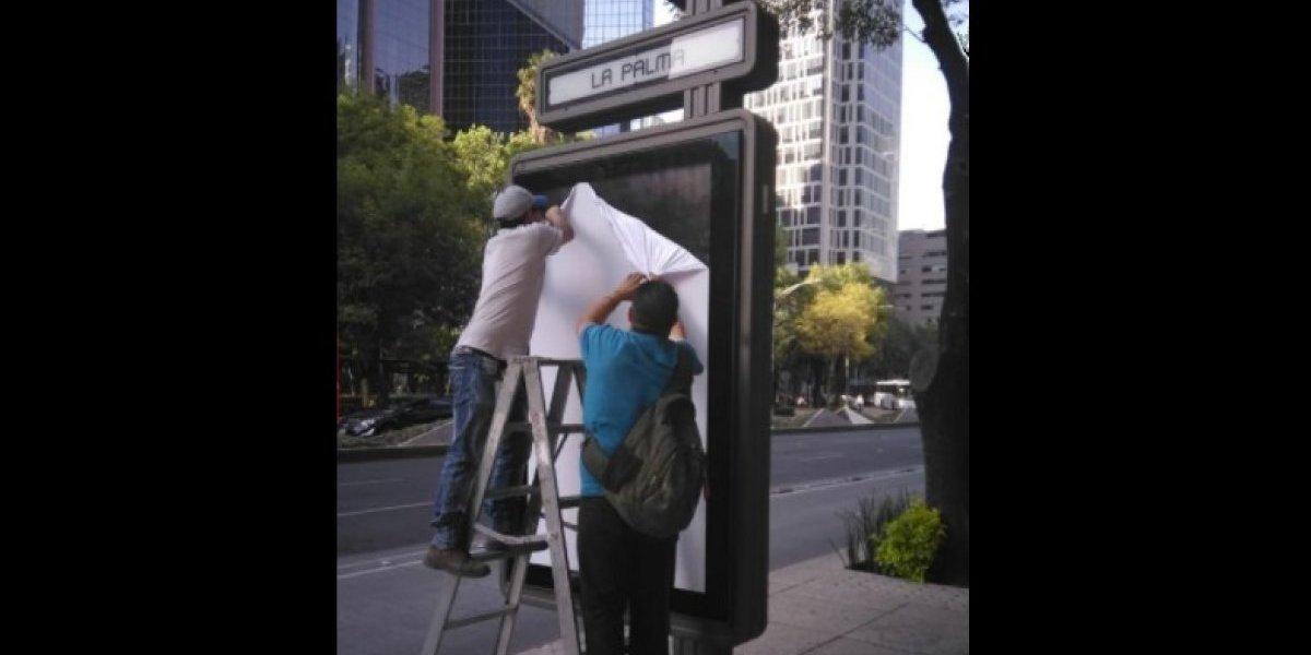 Avalan anuncios publicitarios en primer tramo de L7 del Metrobús