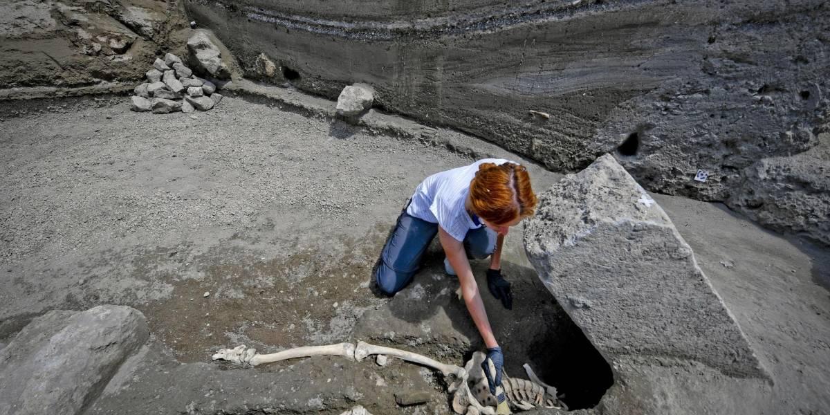 Descubren esqueleto de víctima de la erupción del volcán Vesubio