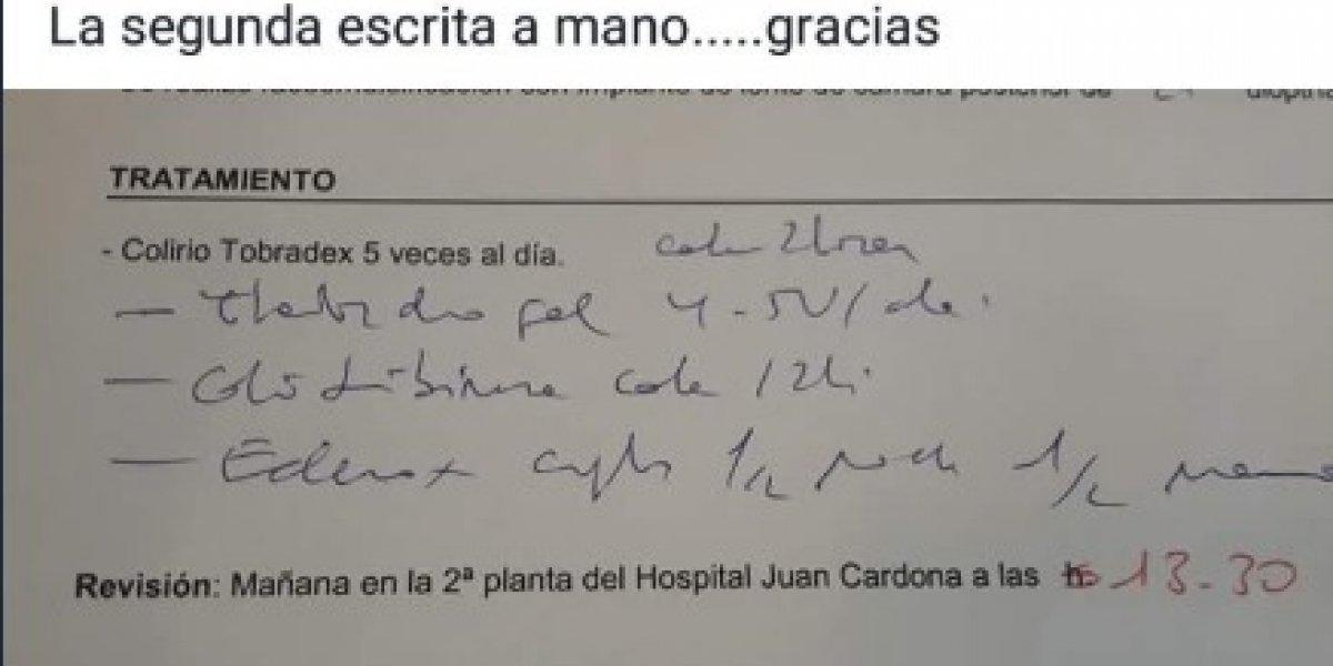 """¿Qué dice acá?: trabajadores de farmacia crean grupo de Facebook para ayudar a """"traducir"""" las recetas de los médicos"""
