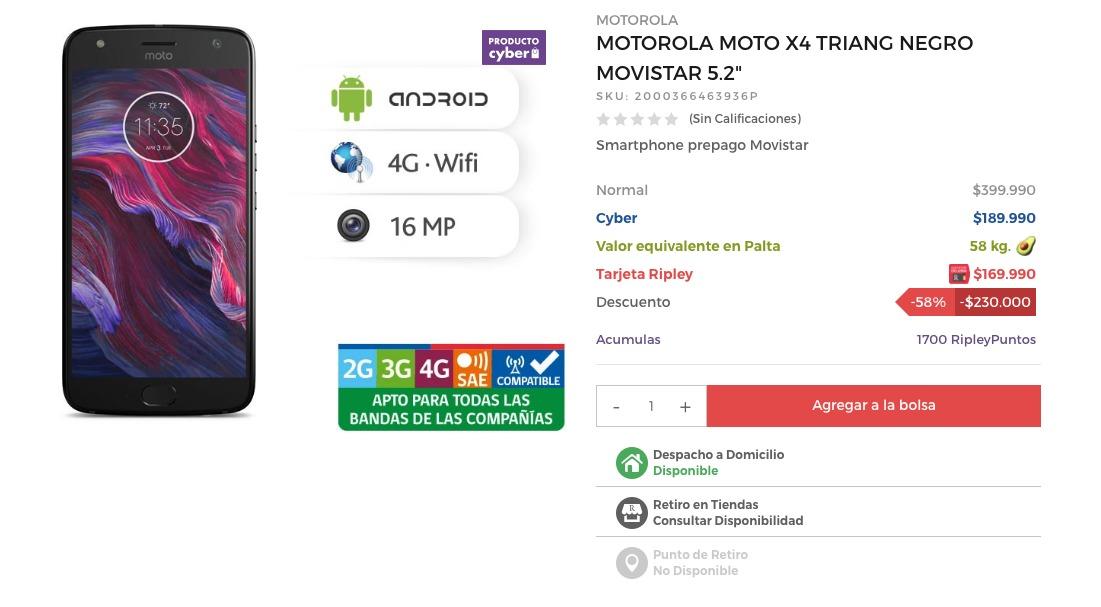Resultado de imagen para Motorola Moto X4 aguacates