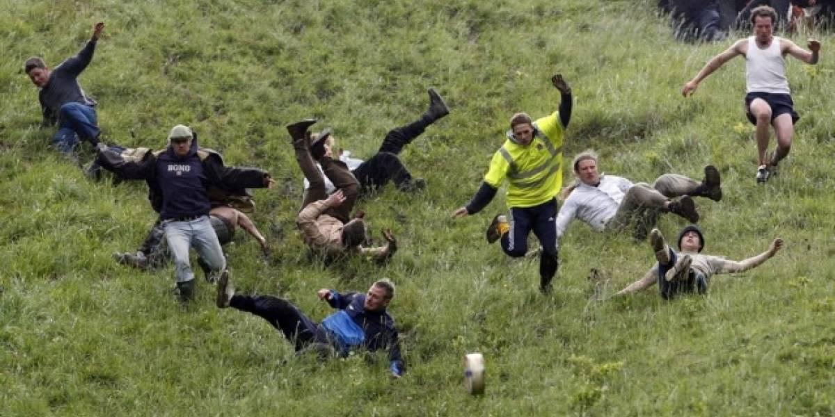 Inglês quebra recorde de vitórias em alucinante 'Corrida do Queijo'
