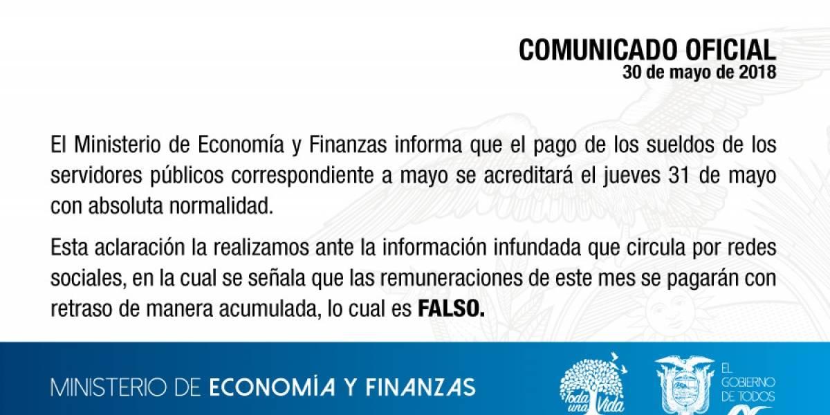 Falso comunicado de Ministerio de Economía y Finanzas sobre sueldos circula en redes