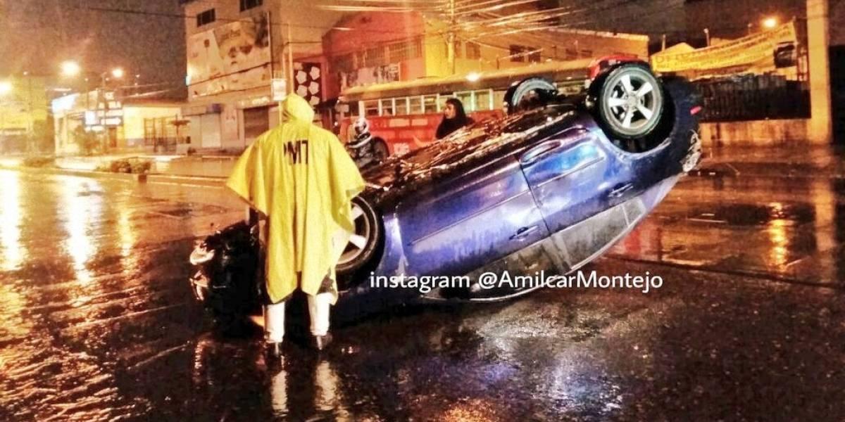 Reportan diferentes incidentes vehiculares en la capital y sus alrededores