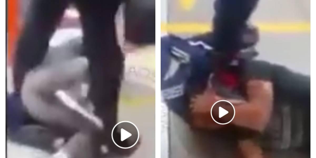 Video: usuarios de TransMilenio le dan tremenda golpiza a un presunto ladrón