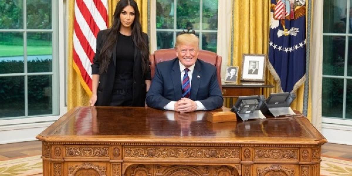 Kim Kardashian se encontra com Donald Trump na Casa Branca