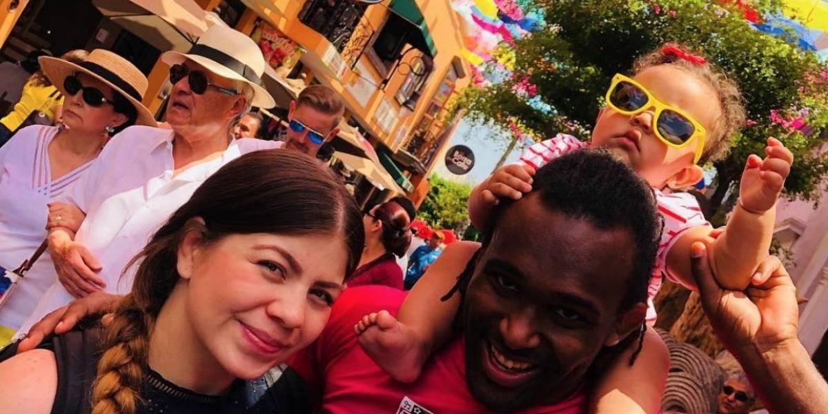 Jaime Espinal celebra el primer año de su hija