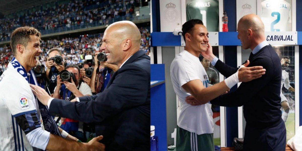 Jugadores despiden emotivamente a Zinedine Zidane
