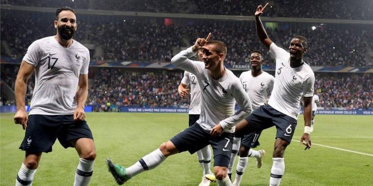 Francia sigue agarrando ritmo para el Mundial, ahora vence a Italia