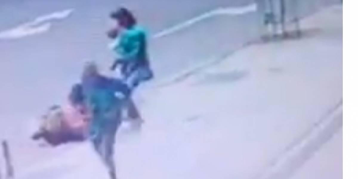 Vídeo mostra mulher sendo agredida durante assalto na zona sul do Rio
