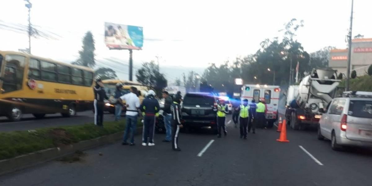 Quito: Se reporta accidente de tránsito en Panamericana Norte, sector Yanbal