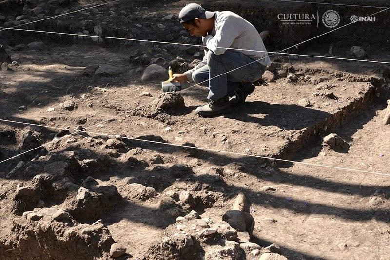 Se localizaron vestigios de una serie de viviendas prehispánicas de estilo teotihuacano. Foto: Melitón Tapia, INAH.