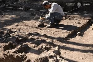 Se localizaron vestigios de una serie de viviendas prehispánicas de estilo teotihuacano.
