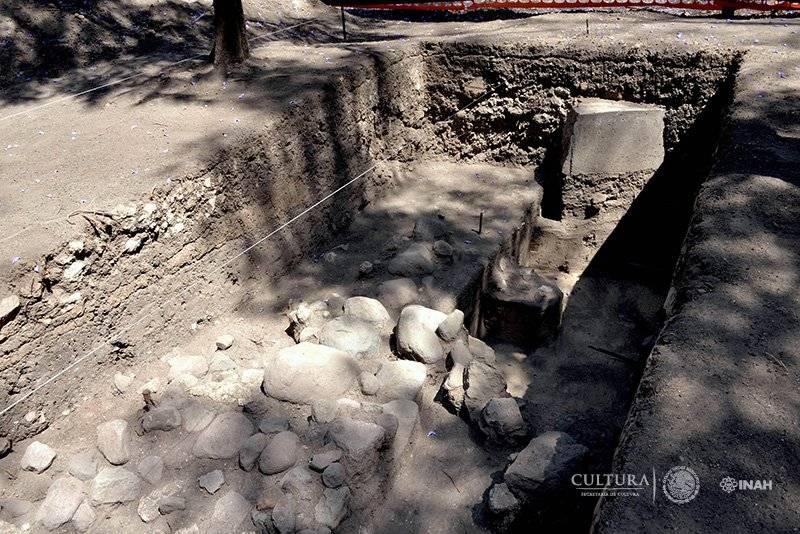 Se ubicaron cuadros y rectángulos unidos por muros colindantes. Foto: Melitón Tapia, INAH.