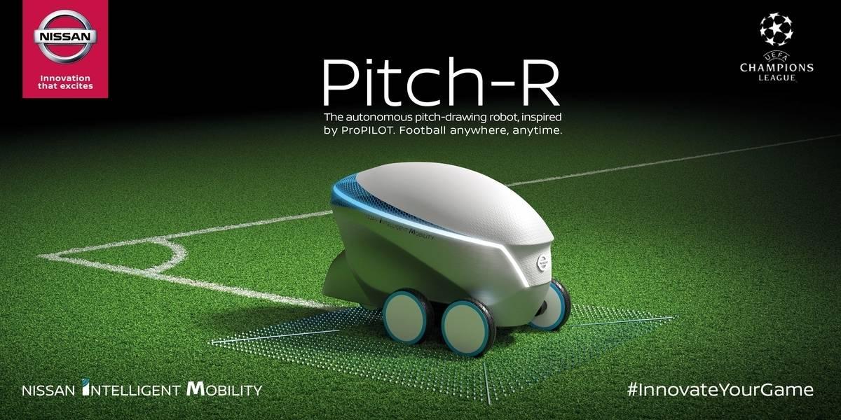 Nissan crea robot para pintar las líneas de las canchas de fútbol