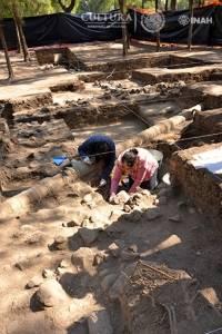 Labores de salvamento identifican dos ocupaciones del sitio, correspondientes al periodo Preclásico y a fases del Clásico. Foto: Melitón Tapia, INAH.
