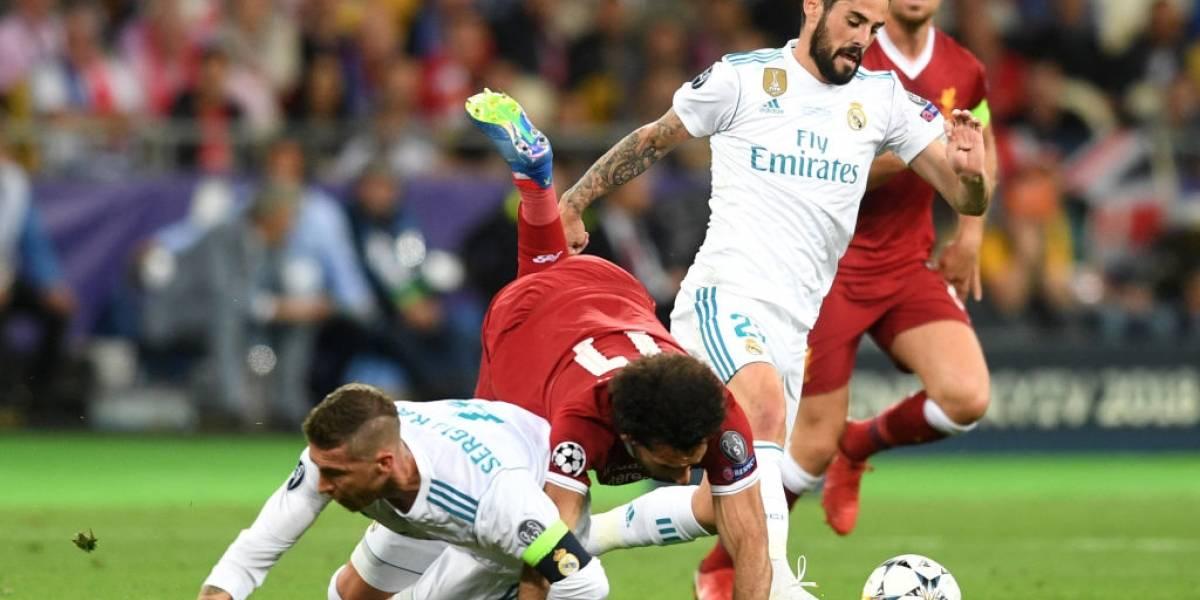 Sergio Ramos debió cambiar su número de teléfono ante las amenazas por la falta a Mohamed Salah