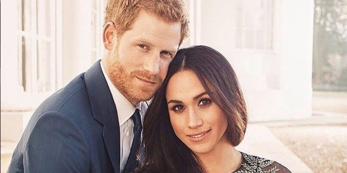La inédita foto de Harry y Meghan que la reina Isabel luce en el Palacio