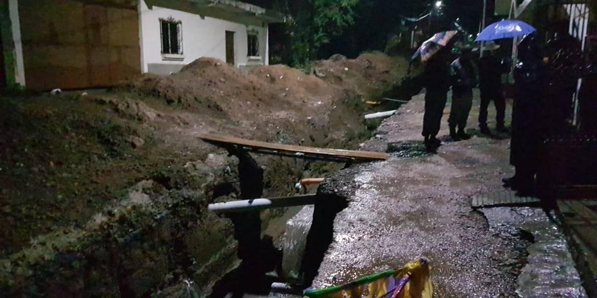 Lluvias generan inundaciones, socavamientos y colapso de muros