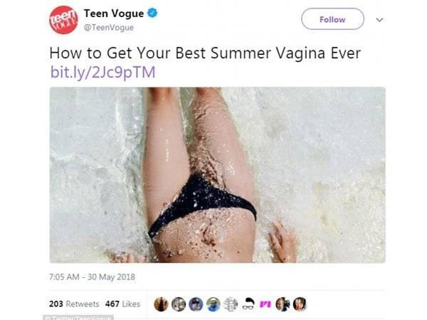 Teen Vogue Vagina Verano Twitter