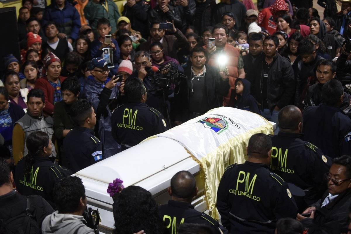 velorio de migrante guatemalteca Claudia Gómez