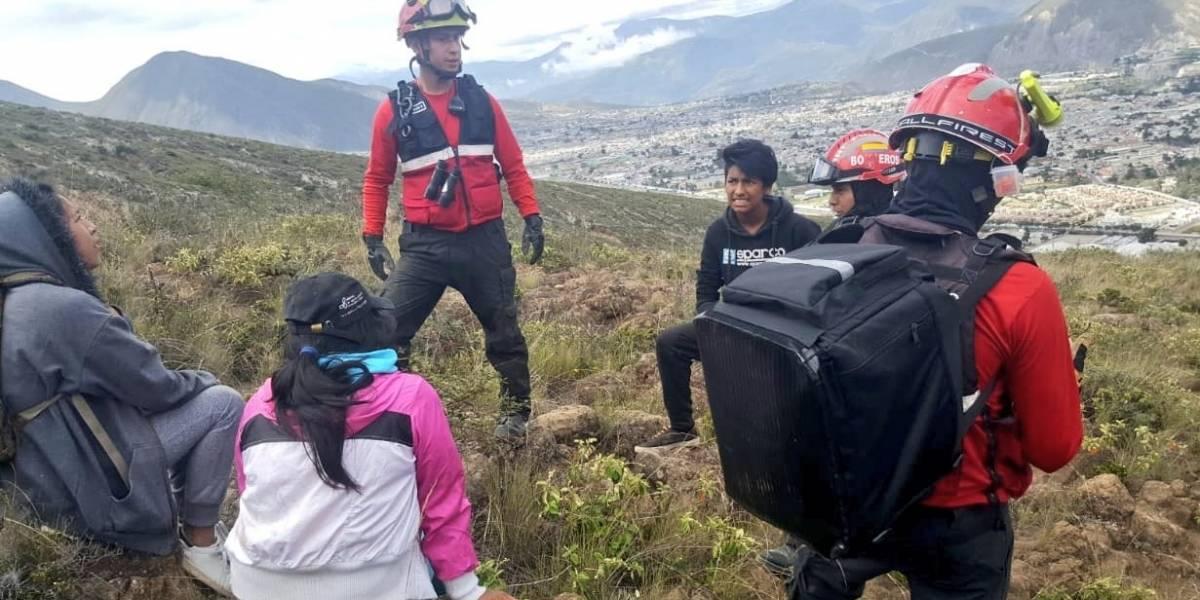 Localizan y rescatan a 3 extraviados en el cerro Casitagua
