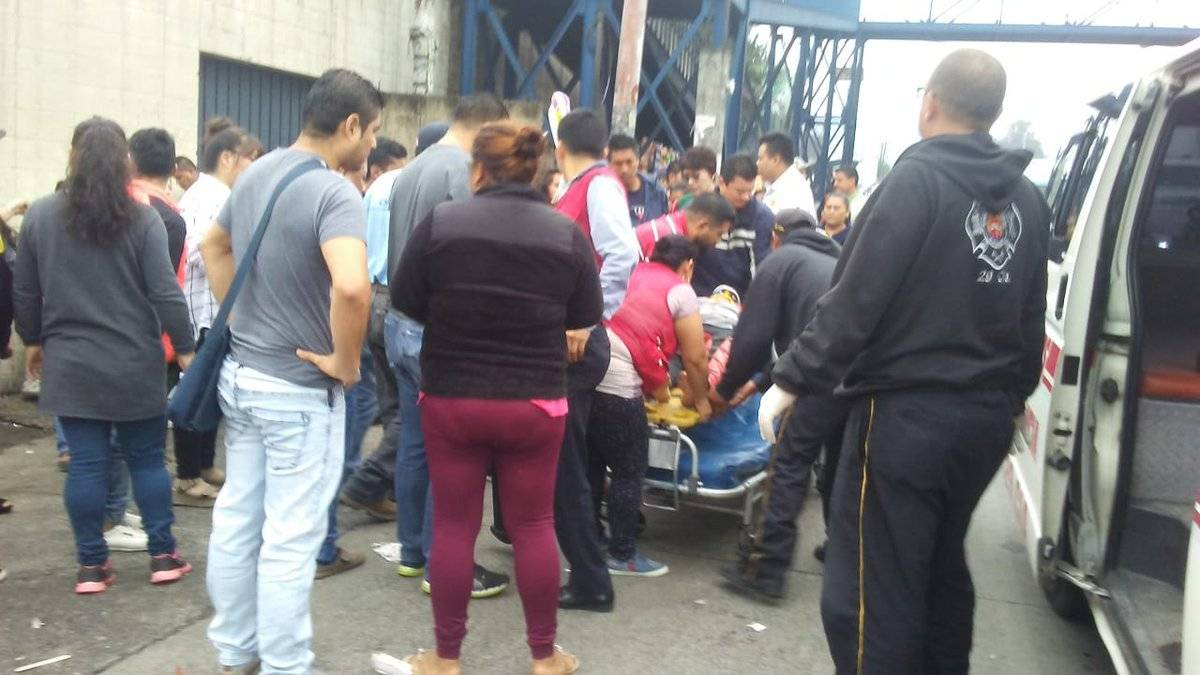 Seis mujeres fueron atropelladas por el conductor de un picop en Palín, Escuintla. Fotos: CVB