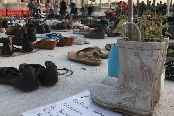 Zapatos víctimas huracán María