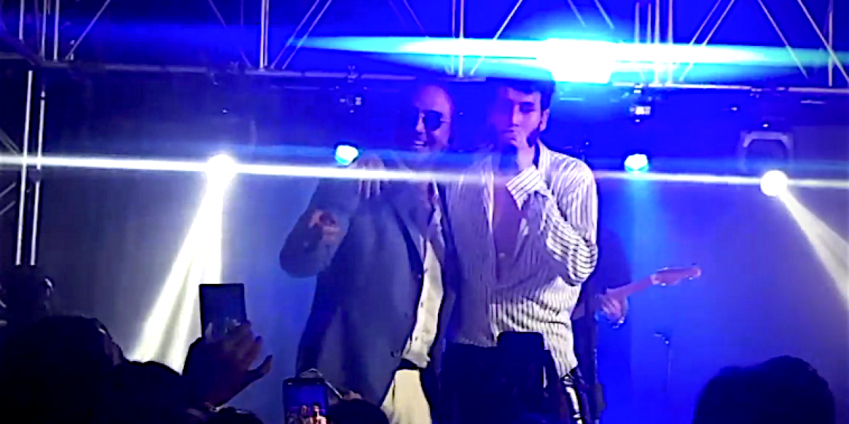 Sebastián Yatra pone a bailar a Alejandro Fernández
