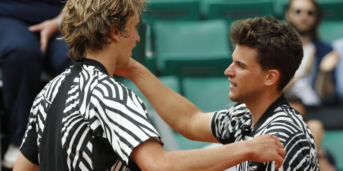 Next Gen: Zverev y Thiem se enfrentarán en cuartos de final de Roland Garros