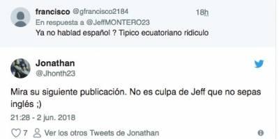 Tuit de Jefferson Montero