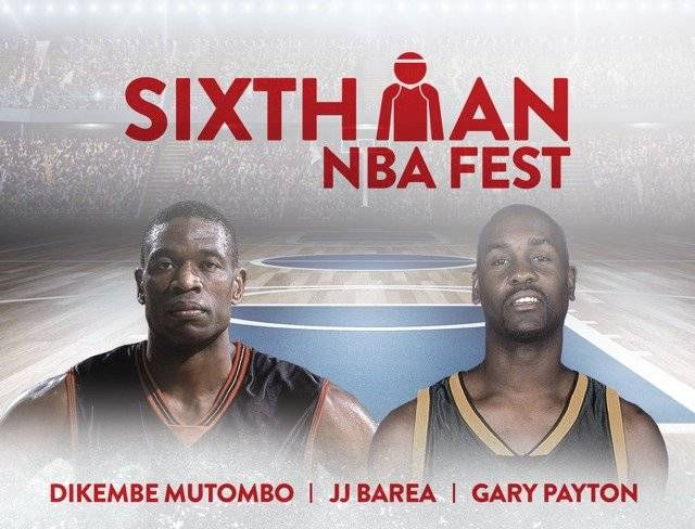 Dikembe Mutombo y Gary Payton