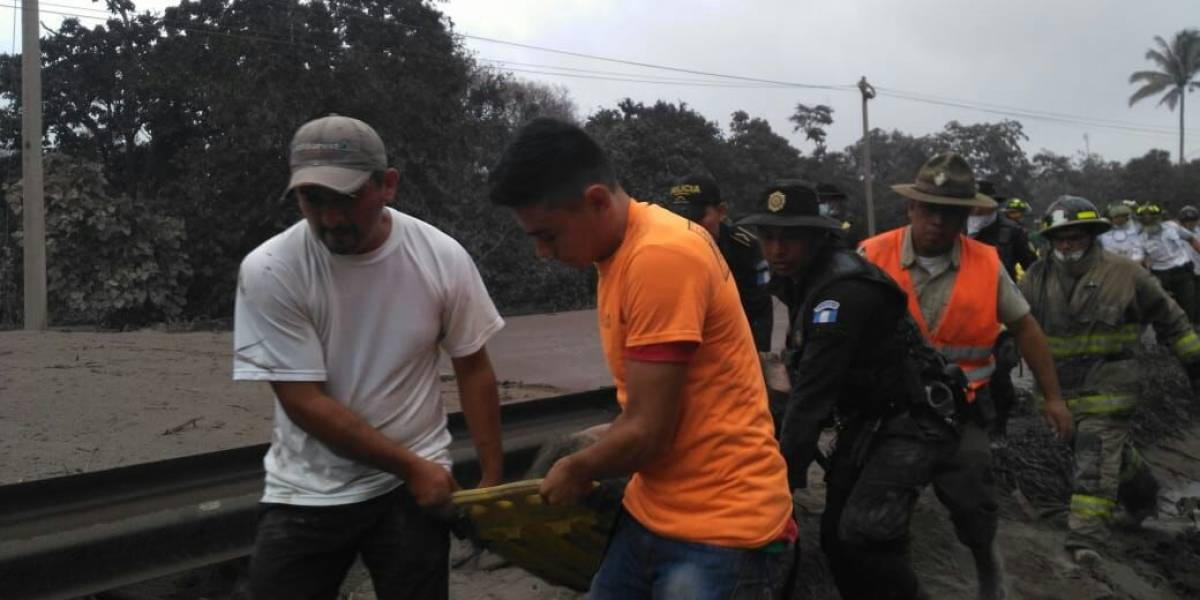 Rutas que se han visto afectadas por la erupción del volcán de Fuego