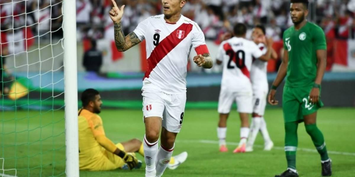 """Perú recupera a su """"Guerrero"""" y golea a Arabia Saudita"""