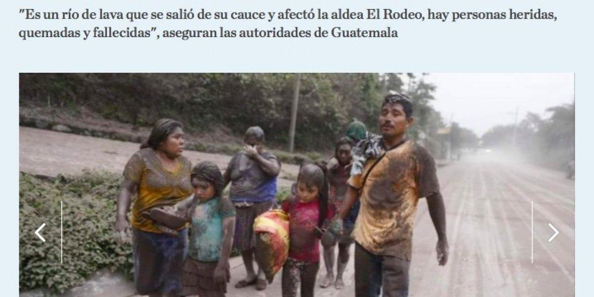 Emergencia en Guatemala por Volcán de Fuego causa alarma a nivel internacional