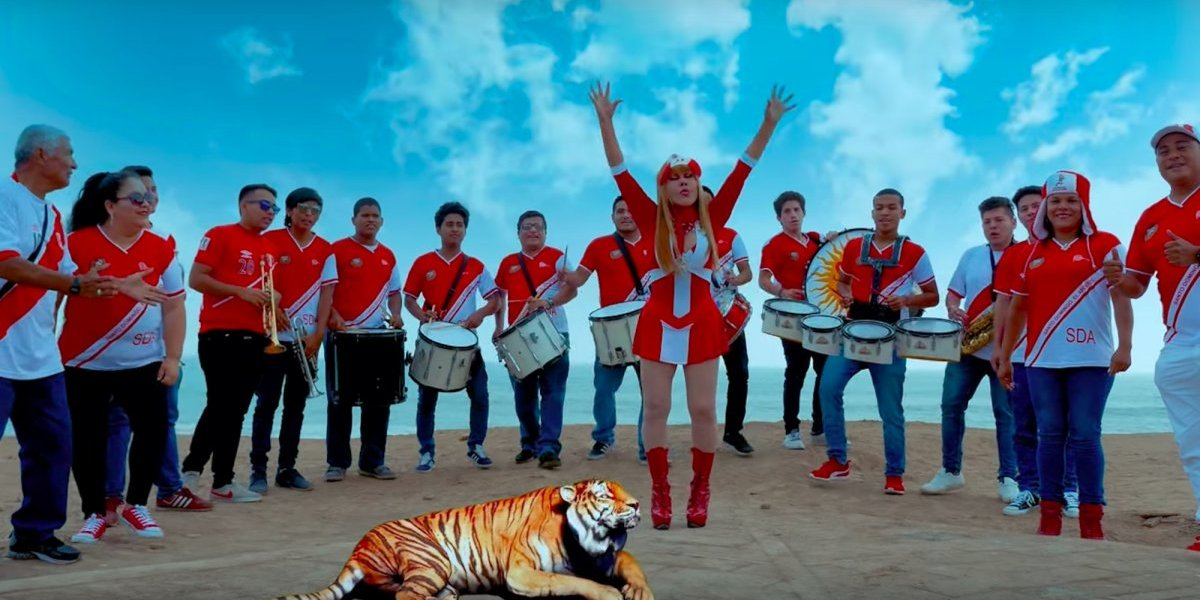 VIDEO: Así apoya la Tigresa del Oriente a la Selección de Perú
