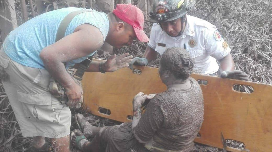 Heridos volcán de Fuego