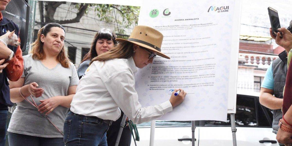 Magui Fisher firma Agenda Animalista para la Miguel Hidalgo