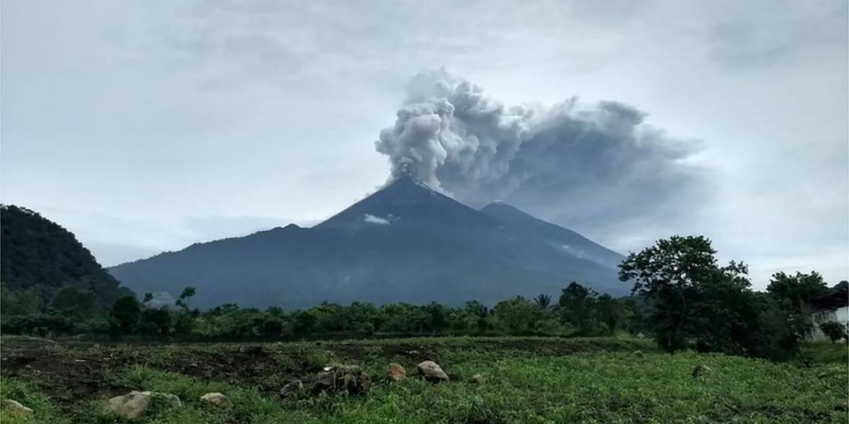 En fotos: así se ve la erupción del volcán de Fuego en Guatemala