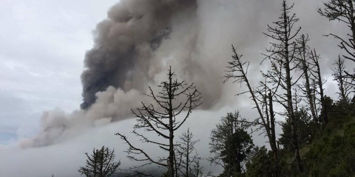 Un sonido atronador: Así se escucha el volcán de Fuego  de Guatemala en erupción