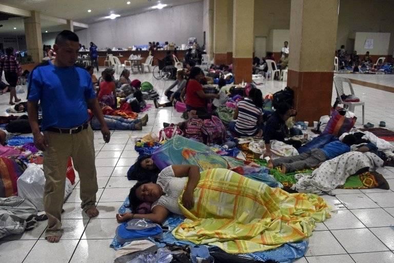 La Conred habilitó cuatro albergues en Escuintla y Sacatepéquez. Foto: AFP
