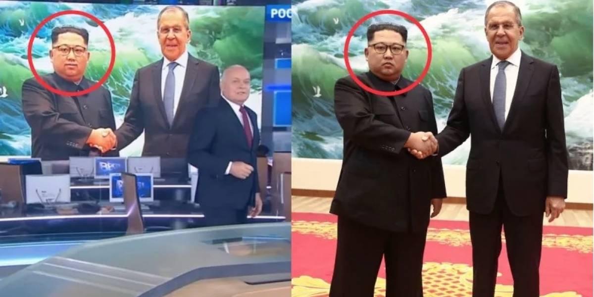 El terrible montaje de la TV rusa: Photoshopearon a Kim Jong-un para que apareciera sonriendo