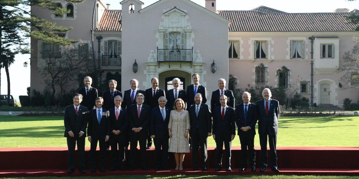 """Lo que no se vio tras la Cuenta Pública: Cecilia Morel """"capitaneó"""" foto con ministros hombres del gabinete"""