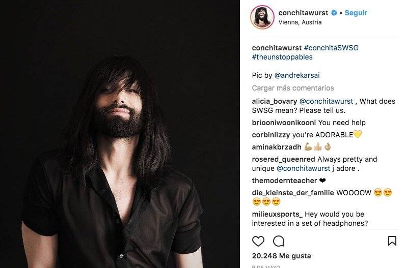 Conchita Wurst Instagram